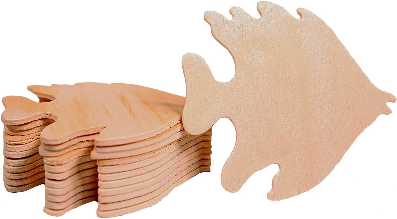 and other DIY projects Many Sizes Available Snapper Fish Wooden Shape Cutout for Crafting Home /& Room D\u00e9cor