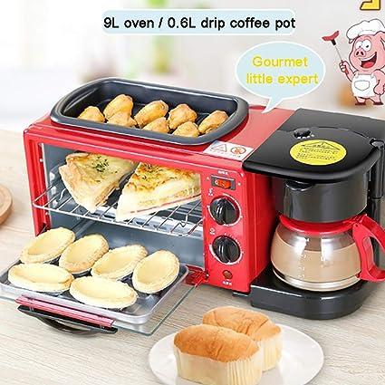 Amazon.com: MAOMAOQUEENss - Mini horno eléctrico 3 en 1 con ...