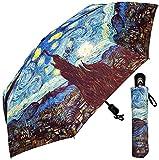 Umbrella - Fine Art Design: Starry Night by Van Gogh - 42'' - With Matching case