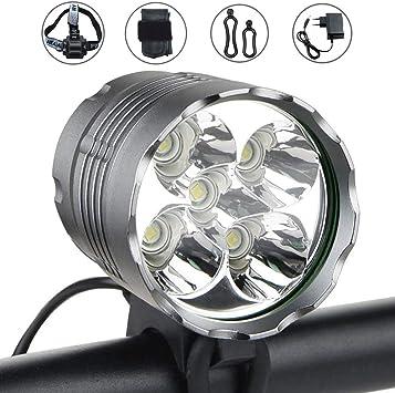 WASAGA Luces de Bicicleta, 6000 lúmenes 5 LED Luz de Bicicleta ...