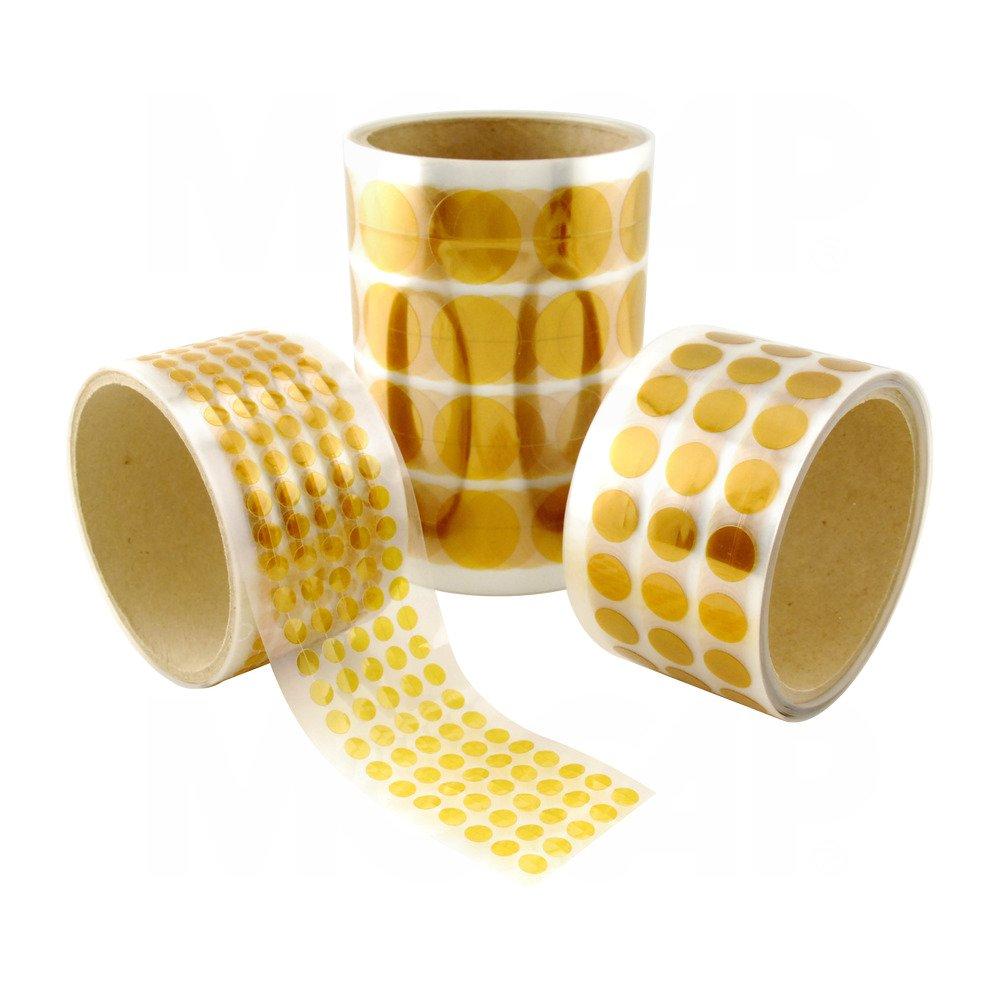 Polyimide Discs - Yellow .187 (3/16) Dia Gold Polyimide Discs, 5000-Ct Roll MOCAP PMIDE-DOT-.187 (qty1)