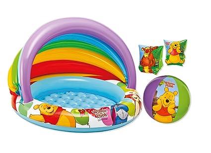 Braccioli Winnie Pooh.Kit Gonfiabili Mare Winnie The Pooh Piscina 57424 Braccioli Palla