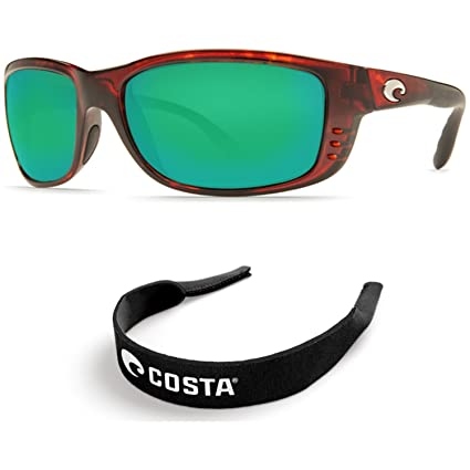 5d46f4bddba46 Image Unavailable. Image not available for. Color  Costa Del Mar Zane -  Tortoise - 580G Green Mirror Glass w  Free Costa Neoprene