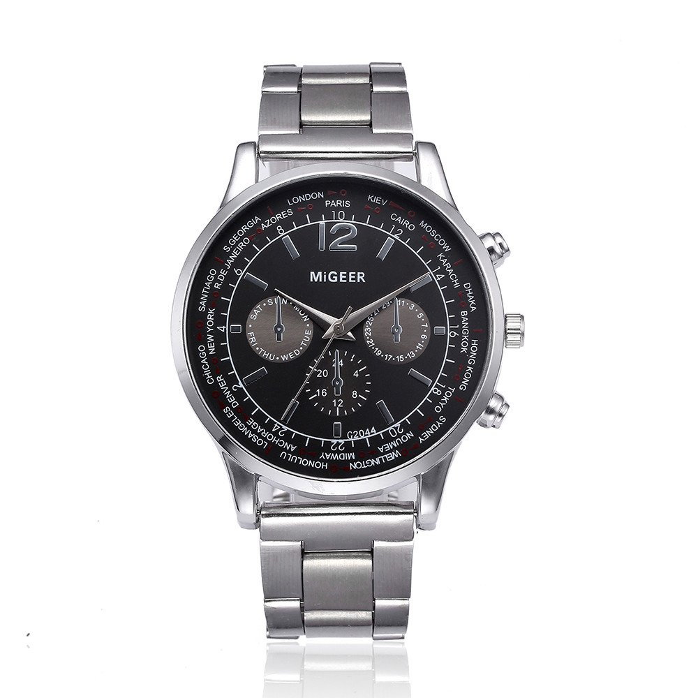 Amazon.com: Frunalte watch, Fashion Men Crystal Stainless Steel Analog Quartz Wrist Watch Bracelet Clearance on Sale: Watches