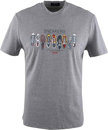 0135Voray Ga Camiseta Hombre algodón Estampado Dibujo Sneakers: Amazon.es: Ropa y accesorios