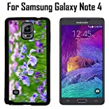 Iris Flowers Custom Case/ Cover/Skin *NEW* Case for Samsung Galaxy Note 4 - Black - Rubber Case (Ships from CA) Custom Protective Case , Design Case-ATT Verizon T-mobile Sprint ,Friendly Packaging - Slim Case