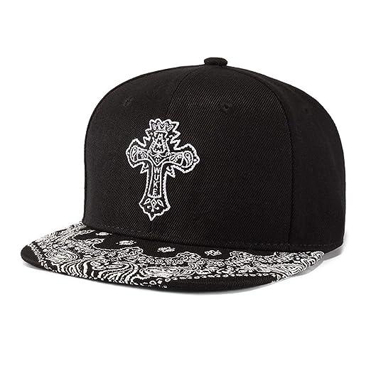 678bdf701cf8e King Star Men Solid Flat Bill Hip Hop Snapback Baseball Cap Black-Cross