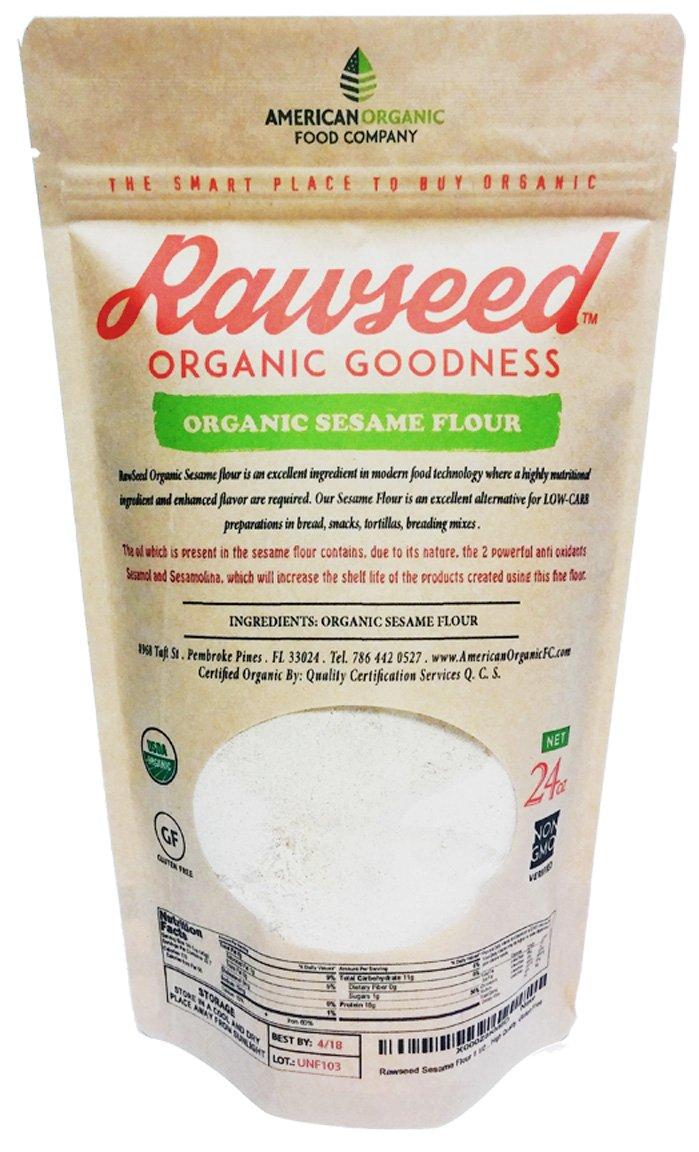 Rawseed Sesame Flour 1 1/2 lbs (24 oz) Organic Certifed Natural 100%, Gluten Free by Rawseed Organic Goodness