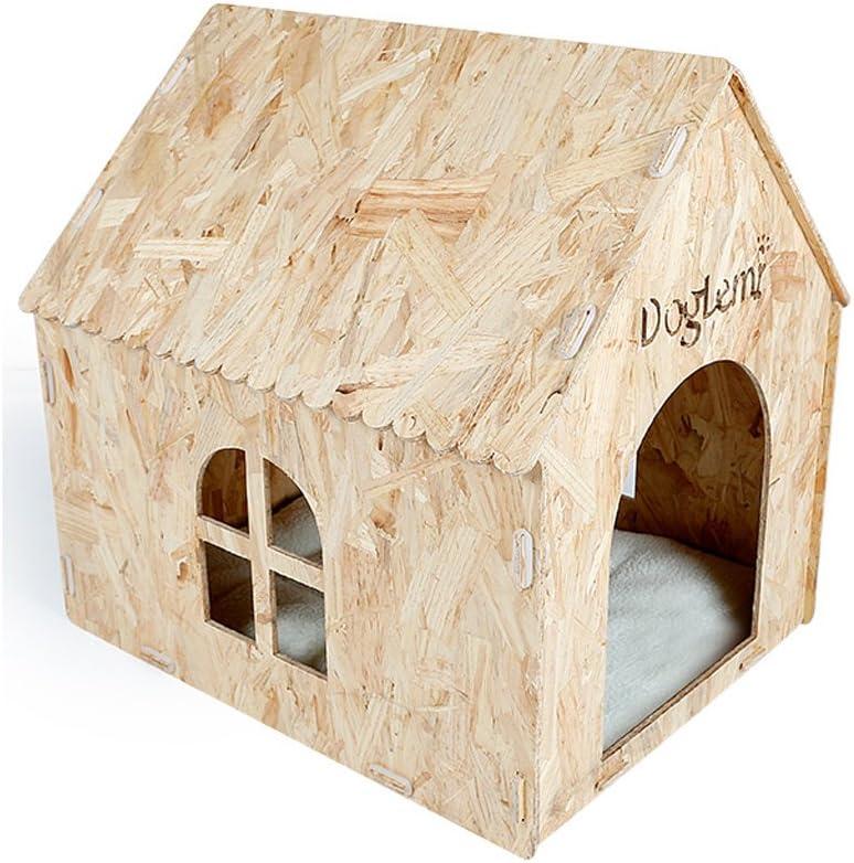 CHONGWFS Eco Friendly Stylish Dog House Four Seasons Universal a Prueba de Humedad para Mascotas Doghouse Productos para Mascotas para Perros y Gatos