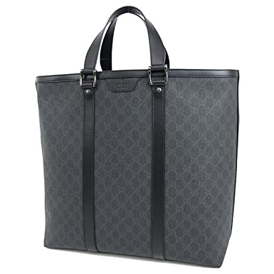 12c467fd6 Gucci GG Supreme Canvas Tote Bag 322063 Black Large Carry On Bag:  Amazon.co.uk: Clothing