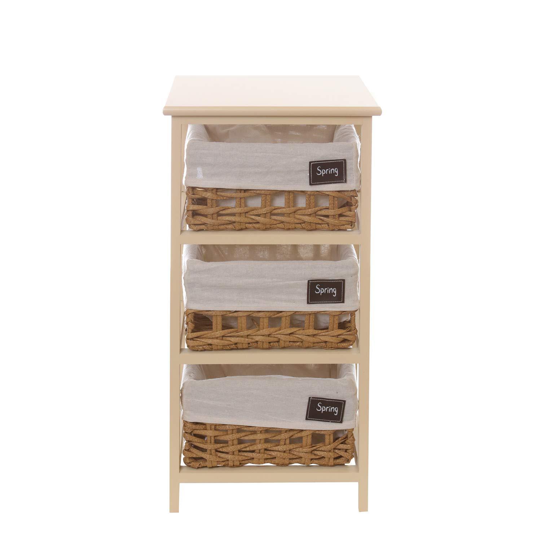 Mobiletto in legno con 3 cassetti KASANOVA