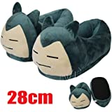 Pokemon Snorlax Stuffed Plush Heel Cover Slipper Home Decoration Adult Shoes by cista Home