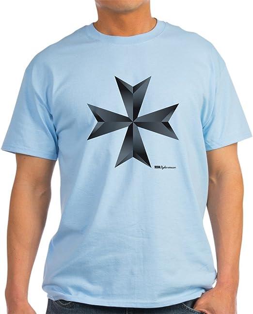 CafePress – Cruz de Malta de fresno gris camiseta – 100 ...