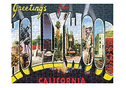 Greeting from Hollywood CA Old Poster Jigsaw Puzzle Print 252 Pieces (Old Hollywood Posters)