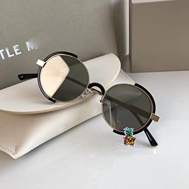 Fashion Vintage Unisex Metal Frame New Gentle man Women Monster infinity Moooi Sunglasses - white silver MvQB9Svz1V