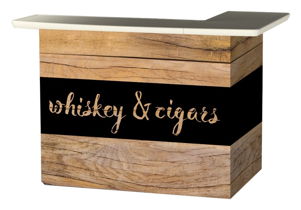 Best of Times Portable Patio Bar Table, Whiskey & Cigars Bar