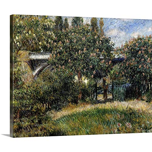 GREATBIGCANVAS Gallery-Wrapped Canvas Entitled Railway Bridge at Chatou. 1881. by Pierre-Auguste Renoir. Orsay Museum by Pierre Auguste (1841-1919) Renoir 14