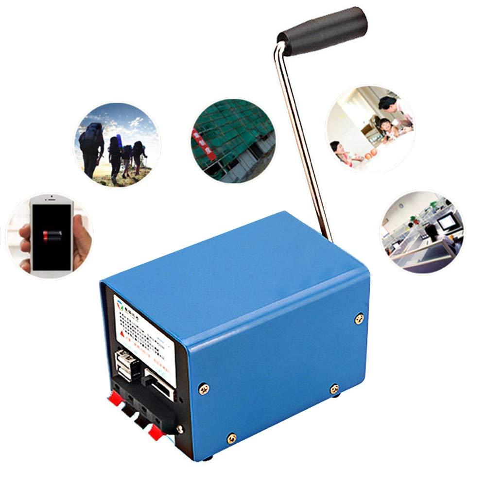 PROMOTOR Portable Crank Generator, Multifunction Hand USB Generator Crank for Emergency Survival by PROMOTOR