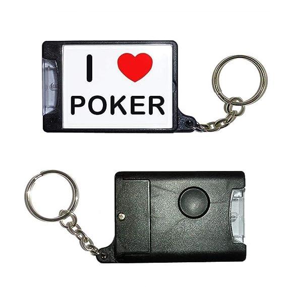 BadgeBeast.co.uk I love Poker - Llavero con antorcha negra ...