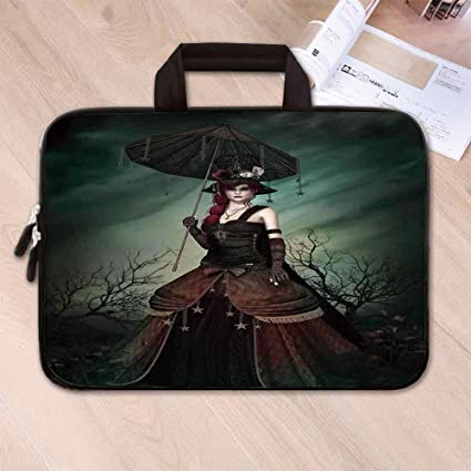 d024dbf66342 Amazon.com: Gothic Wear Resisting Neoprene Laptop Bag,Grunge Style ...