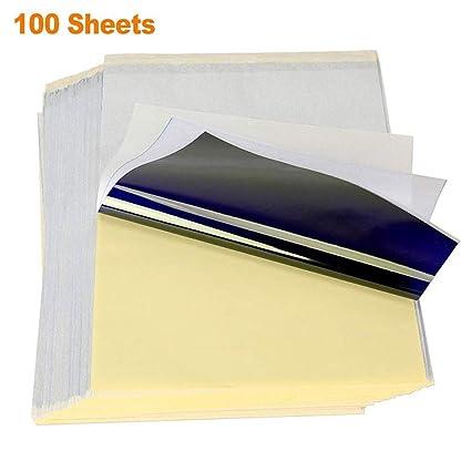 Papel de tatuaje 100 hojas, papel de plantilla térmica para ...