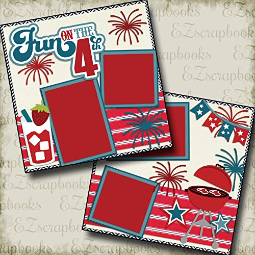 FUN ON THE 4TH - Premade Scrapbook Pages - EZ Layout 2138 ()