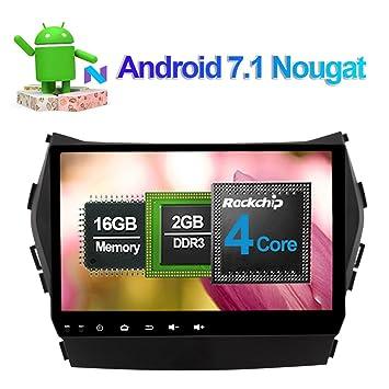 Unidad de radio de coche con Bluetooth GPS para Hyundai Santa Fe Ix45 2013, compatible con FM AM RDS Mirror Link 3G WIFI 1080P, salida de vídeo AV: ...