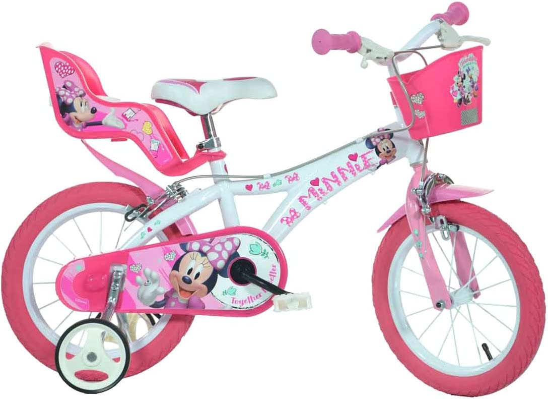 Dino Bikes Minnie Mouse Licensed 16 Inch Bicycle: Amazon.es ...
