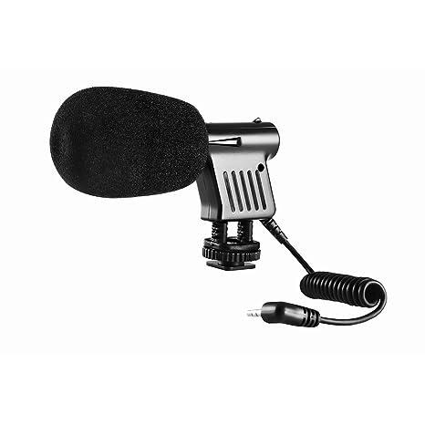 BOYA BY-VM01 - Micrófono de condensador direccional de vídeo de 3 ...