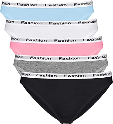 Black Bow Ladies Seamless Bikini Cotton Stretch Panty 8 Pack Size 8 Underwear