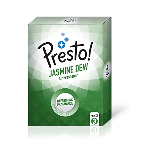 Amazon Brand - Presto! Air Freshener Pocket, Jasmine Dew - 10 g (Pack of 3)