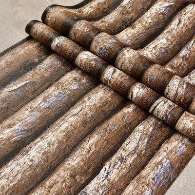 3d carácter como árbol corteza, grano de madera papel pintado Internet Caf ¨ ¦ Bar billar barra PVC Papel pintado de madera: Amazon.es: Hogar