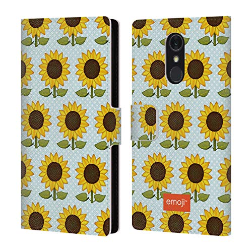 Official Emoji Sunflowers Wild Collection Leather Book Wallet Case Cover for LG Q Stylus/Q Stylo 4
