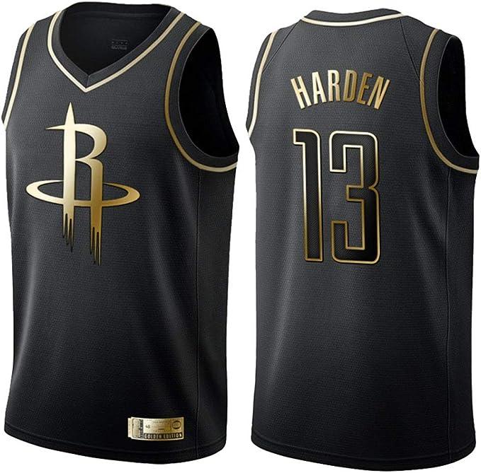 NBA Houston Rockets 13# Harden Camiseta de Jugador de Baloncesto, Camiseta con Bordado, Camiseta de los fanáticos,Chaleco Transpirable: Amazon.es: Ropa y accesorios