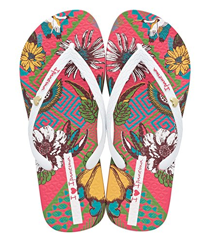 Ipanema Damen I Love Tribal Fem Zehentrenner Mehrfarbig (pink / white)