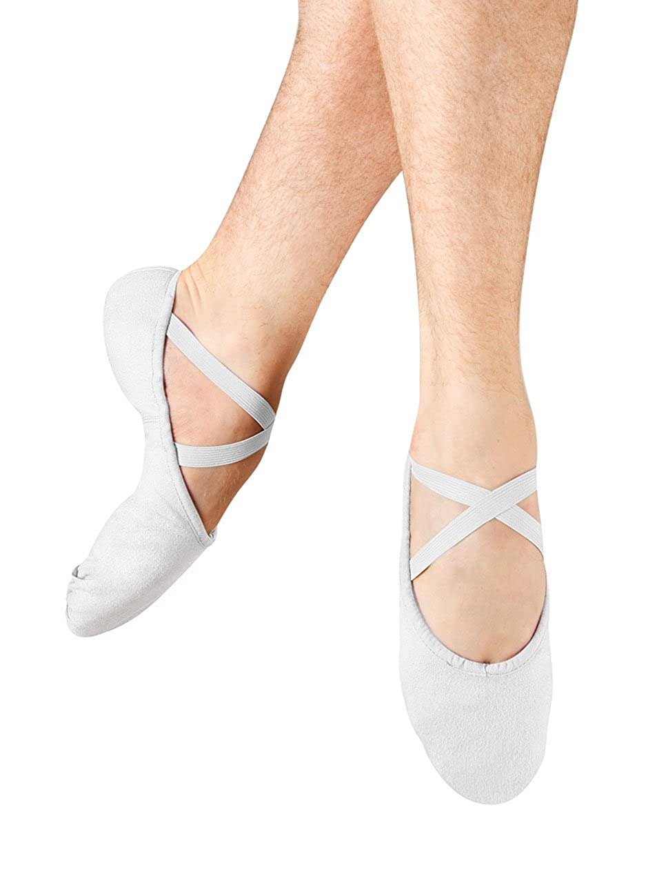[Bloch] Men's Pump Canvas Ballet Flat B005BE7N6O 8   C US|ホワイト ホワイト 8   C US