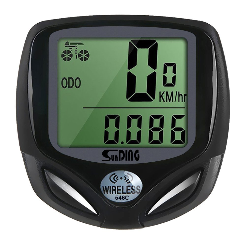 EGD Digital Wireless Bike Bicycle Speedometer Cycle Speedo Odometer MPH KMH