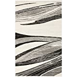 Safavieh Retro Collection RET2691-7912 Modern Abstract Light Grey and Ivory Area Rug (8'9'' x 12')