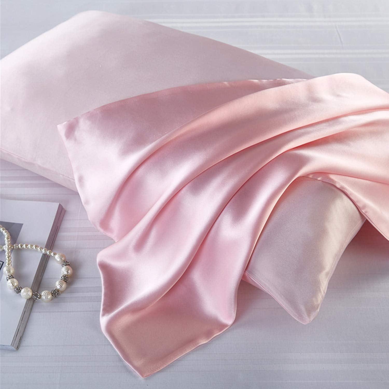 Pink JOQINEER Taie doreiller en Soie 100/% Pure pour Les Cheveux et la Peau avec Fermeture /à glissi/ère dissimul/ée Taille Queen des Deux c/ôt/és 21 Momme 600 Fils au Pouce Hypoallerg/énique Cool Housse