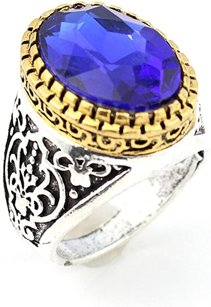 BEST QUALITY TANZANITE FASHION JEWELRY SILVER PLATED AND BRASS RING 8 S22890