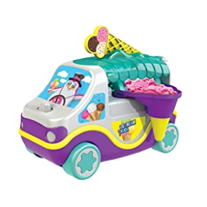 AMAV Toys Ice Cream Maker Truck - Make Your Own Home Made Ice-Cream at Home. Create Your Favorite Flavors in Min Idea for All Occasions