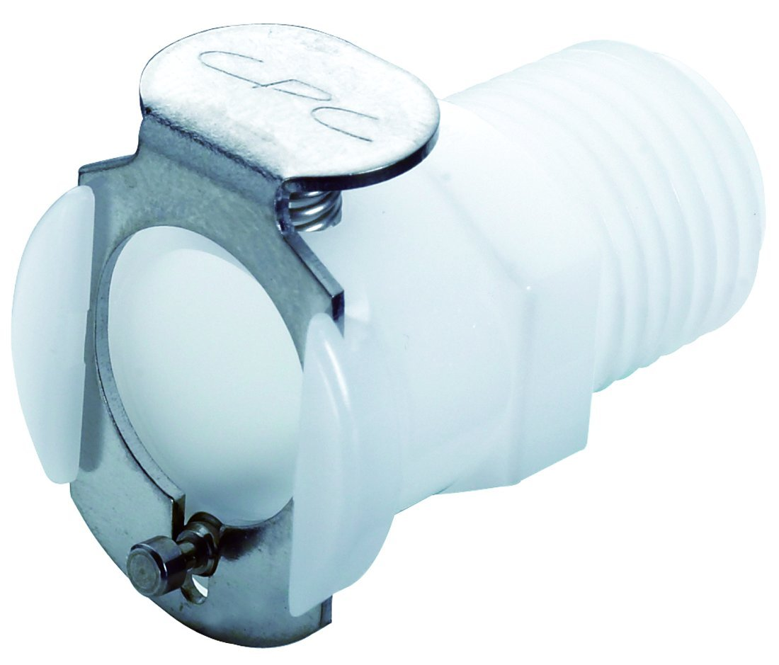 Colder PLCD10004 Acetal Tube Fitting, Coupler, Shutoff, In-Line, 1/4'' Flow Coupler x 1/4'' NPT Male by Colder Products Company
