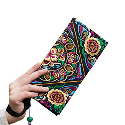 Alftek - Bolso de mano para mujer, diseño retro, bordado ...