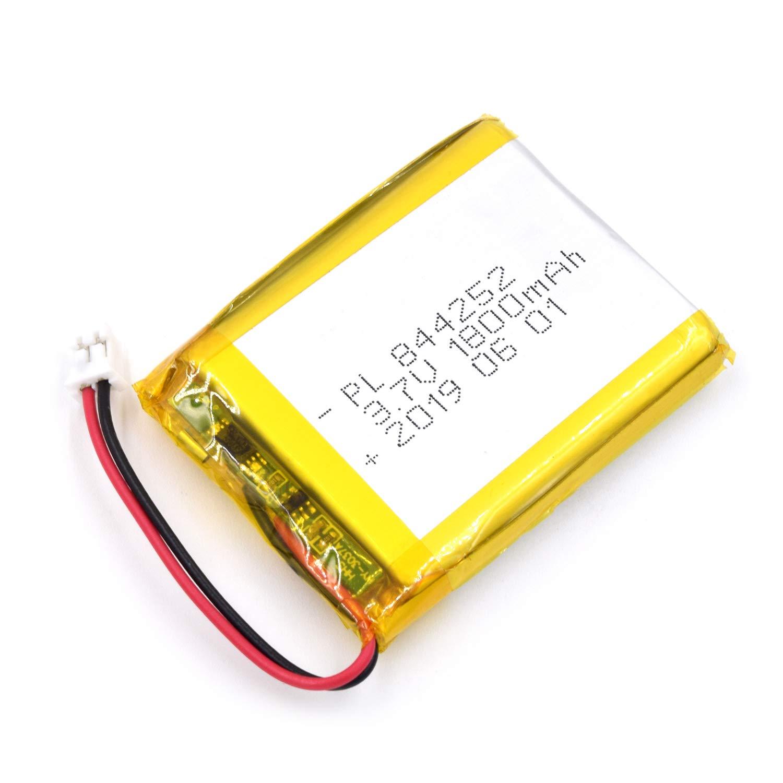 Bateria Lipo 3.7V 1800mAh 844252 Recargable JST Conector