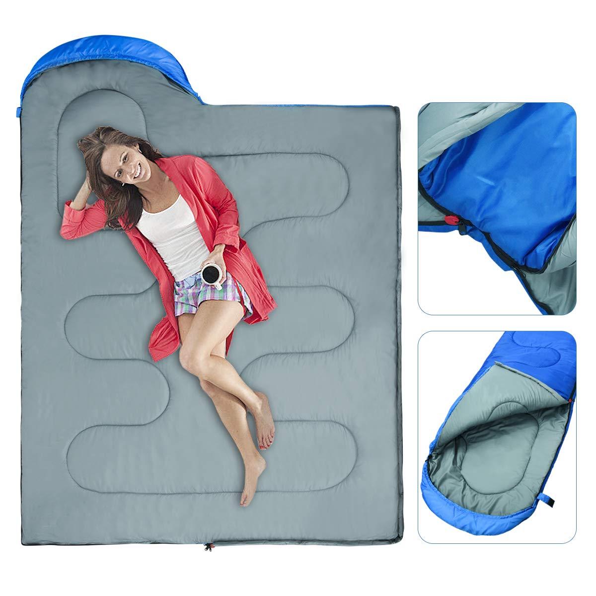 BACKTURE Schlafsack Deckenschlafsack 1.0 kg Leichtgewicht Warm Outdoor 100/% Baumwollhohlfaser f/ür Camping,Wandern,sonstige Aktivit/äten im Freien im 4-Jahreszeiten leicht in Tragetasche,220 x 80cm