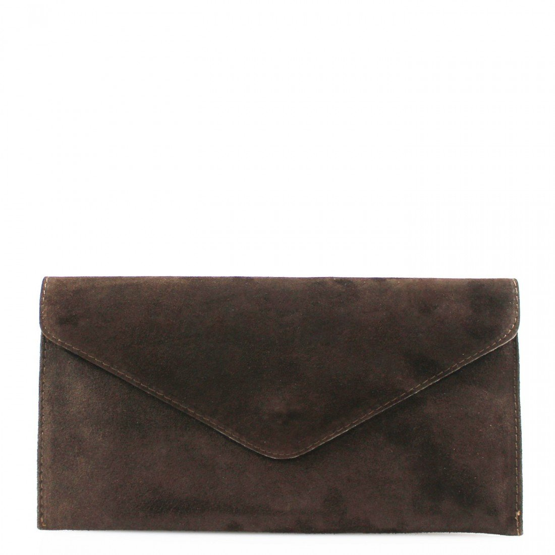 New Womens Genuine Italian Suede Leather Clutch Party Wedding Envelope Bag Olive Green