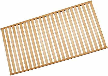 Plano de somier rígido - de madera maciza de tilo - sólo 4 cm de altura!, 80 x 210