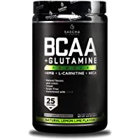 Sascha Fitness BCAA 4:1:1 + Glutamine,HMB,L-Carnitine,HICA | Powerful and Instant Powder Blend with Branched Chain Amino…