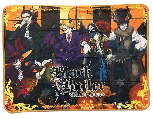 GE Animation Great Eastern GE-57688 Black Butler Book of Circus Grim Reaper Group Throw Blanket, 46 x -