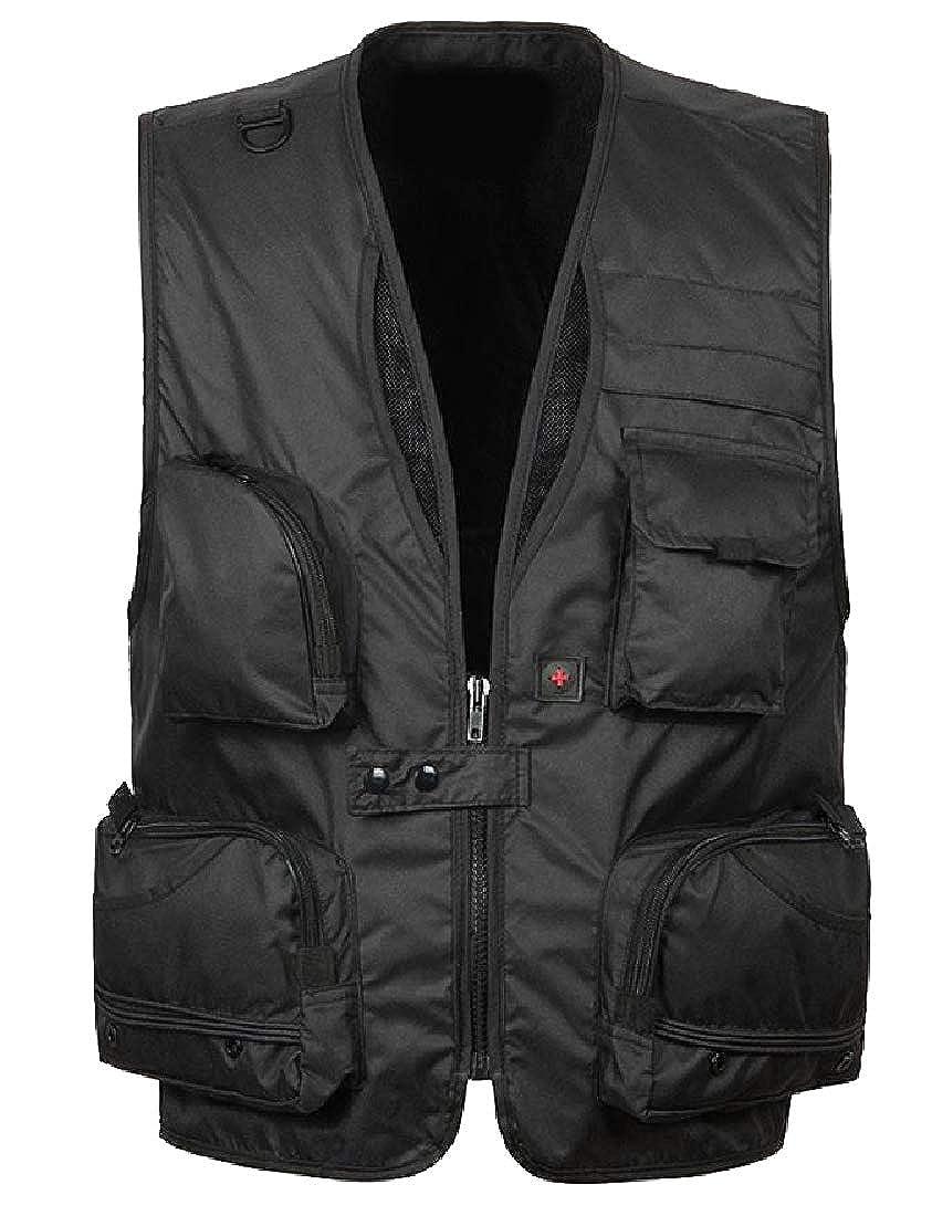 YUNY Mens Openwork Casual Loose Water-Resistant Camping Vest